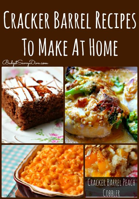 cracker barrel recipes to make at home roundup budget