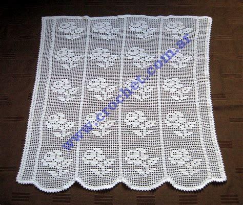 cortina  motivo floral en tejido crochet  im working  perdeler perde dantel