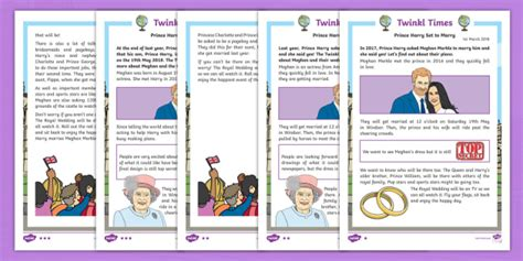 New Ks1 Royal Wedding Newspaper Report Differentiated Fact
