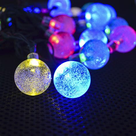 Multicolor 6m 30 Led Super Bright Solar Bubble Fairy Bright Solar Landscape Lights