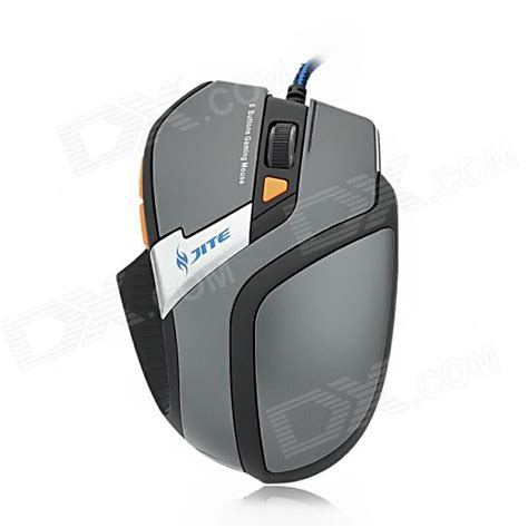 Mouse Gaming 2048 jite 2048 3 usb wired 800 1000 1200 1600dpi 6d optical mouse grey black 170cm