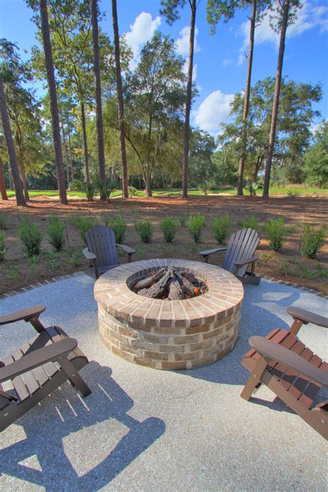 backyard brick fire pit backyard fire pit designs landscape traditional with