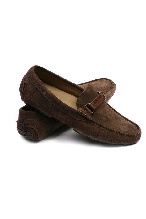 hugo suede loafers hugo black suede loafers in brown drefinno 50218546