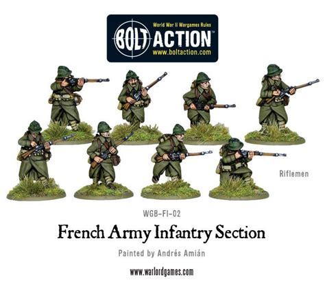 infantry section french army infantry section warlord games