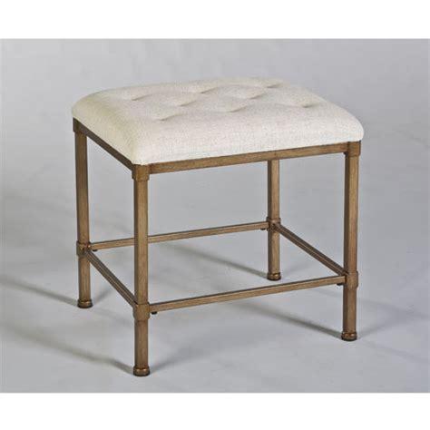 katherine backless vanity stool in golden bronze