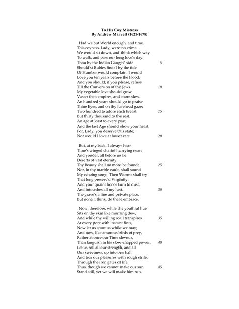 To His Coy Essay by To His Coy Essay Sonnet My Search Results Teachit To His Coy