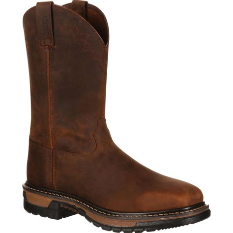 original boots rocky mens original ride western boot brown rkw0131