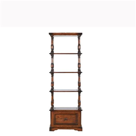 Thin Shelving Unit Burford Narrow Open Shelving Unit With 1 Drawer From