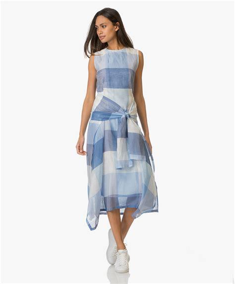 Lexa Dress Kode Ch 002 sportmax filo sleeveless sslk linen dress blue filo 22211871000 002