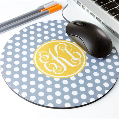 Mouse Mat Personalised by Personalised Polka Dot Mouse Mat By We To