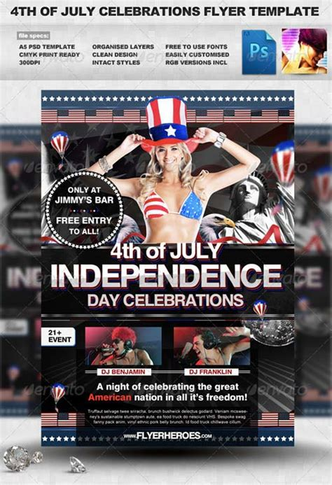 Graphicriver 4th Of July Flyer Template Avaxhome In July Flyer Template