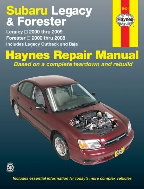 2001 subaru legacy and outback repair shop manual set original subaru legacy forester covering legacy 00 09 forester 00 08 inc legacy outback baja