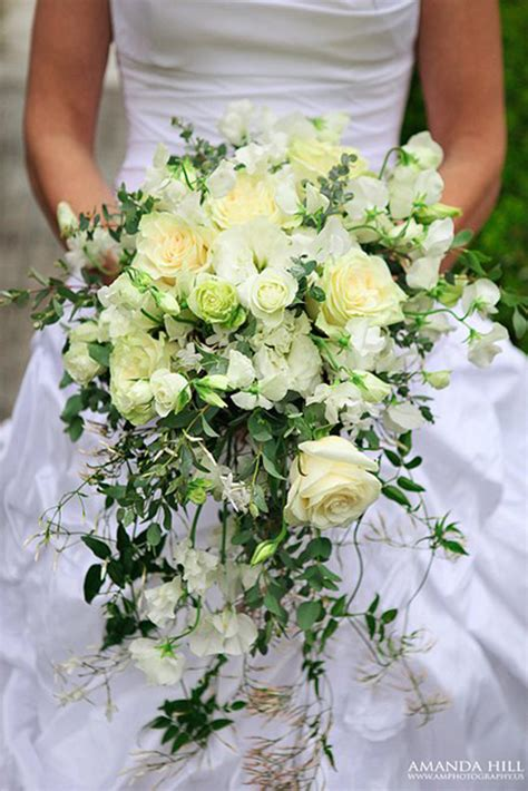 Arrangement Flowers by Wedding Wednesday Shower Cascading Trailing Or
