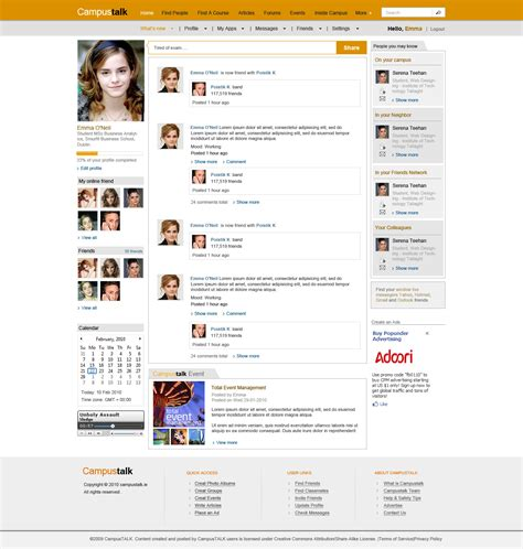Social Networking Free Templates social network template