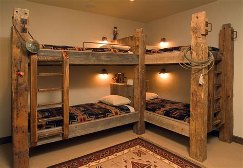 timber bunk beds traditional style bunk beds featuring timbers and western