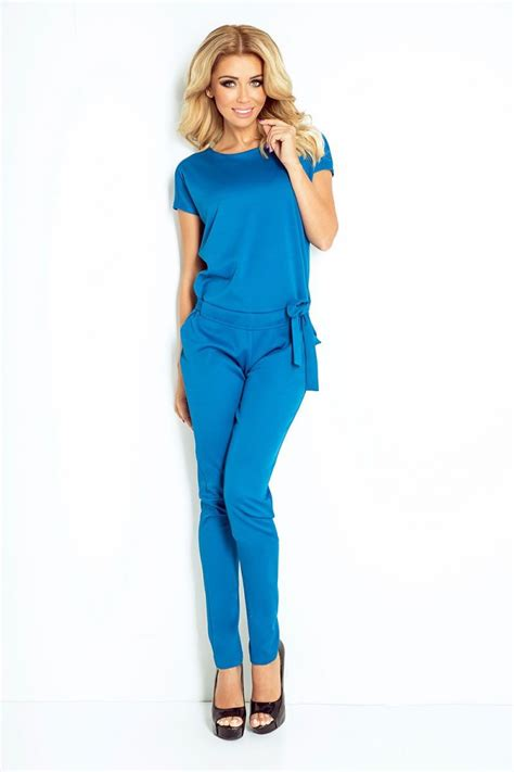 Overall Belt fashion e shop shortsleeve overall with belt blue 040