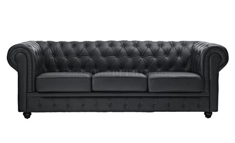 black leather sofa loveseat chesterfield sofa in black leather by modway w options