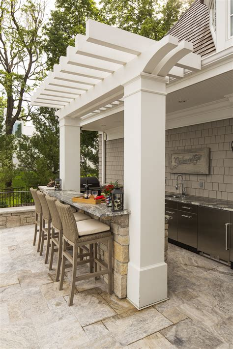 Outdoor Bar Designs With Back Wall Outdoor Rooms Low Key To Luxury Southview Design