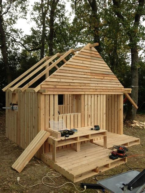 plans to make a pallet house diy pallet hideout for the kids home design garden architecture blog magazine