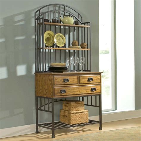 kitchen bakers rack cabinets kitchen interesting bakers racks for kitchen wrought iron