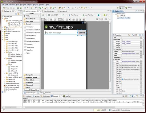 layout xml java android development your first steps dzone java
