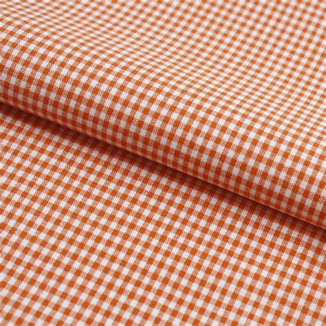 2x2 bettdecke vichy karo stoff 2x2 mm orange hans textil shop
