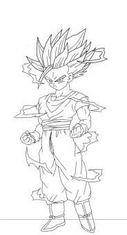 Dragon Ball Z Gohan Super Saiyan 2 Coloring Pages Sketch Page sketch template