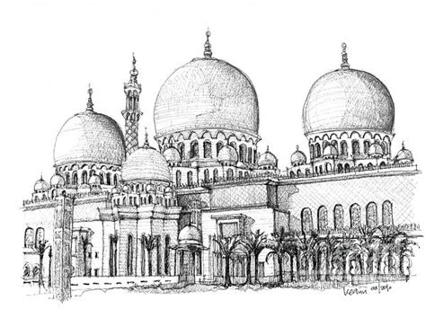 Mosque Drawing by Mosque Sketch Pencil And In Color Mosque Sketch