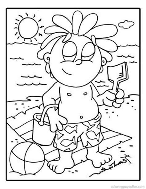 beach scene coloring pages coloring home