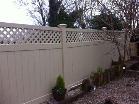 privacy fence trellis upvc fening maintenance free options maintenance free fence