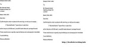 Business Letter Example For Order Order Letters Business Letter Examples