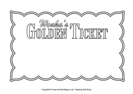 Golden Ticket Blank Free Golden Ticket Template Editable
