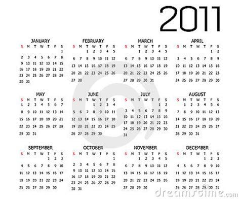 2011 calendar template stock vector image of project