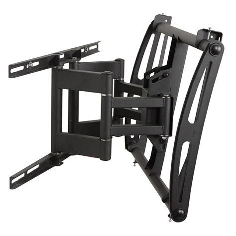 swing arm tv mount 42 premier mounts swing out arm for 42 63 inch displays black