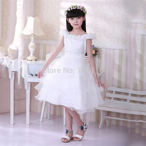 Dress Tutu White Blue Flower 4 6 Th Include Headbandgelangcincin dresses summer 2015 white mesh wedding flower tutu princess dress age3 4 6 8 10