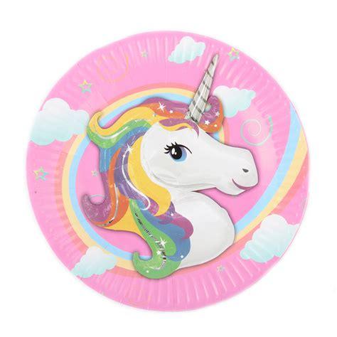 imagenes de unicornios bebes 10pcs lot 7inch unicorn theme cartoon paper plates kids