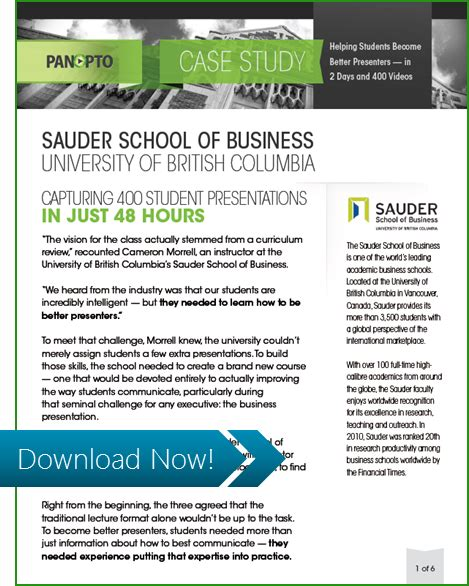 Sauder Mba Review by Recording Student At Scale At The Sauder School Of