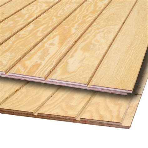t1 11 siding 15 32 in x 4 ft x 8 ft plywood siding panel 399067 the home depot