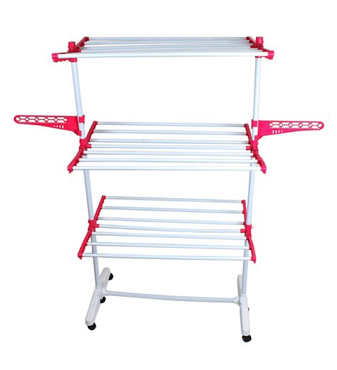 Urban Home Decor cipla plast sturdy cloth red and white clothes dryer stand