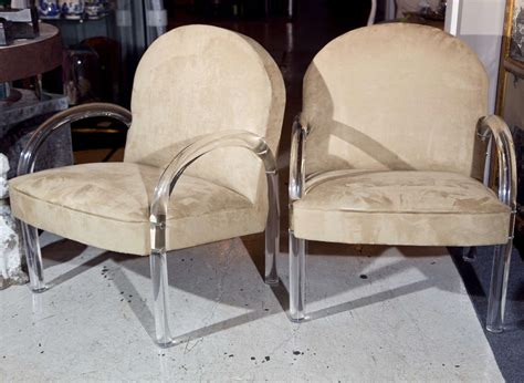 1000 images about marzio cecchi pair of suede chairs w lucite legs arms at 1stdibs