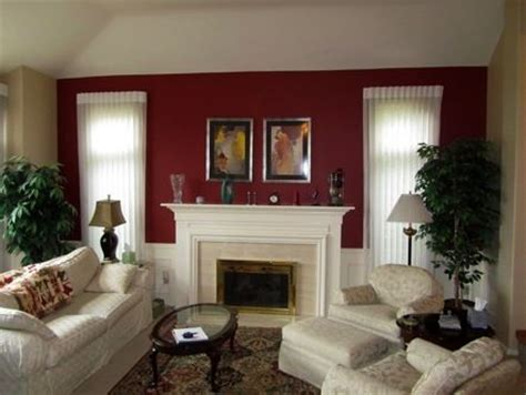 burgundy accent wall in living room interiors living room paint window and