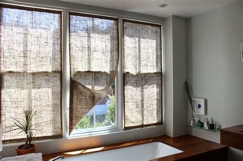 house of window coverings the shingled house burlap window shades