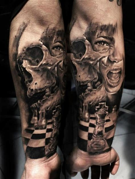 life and death tattoos sleeve ideas and sleeve designs