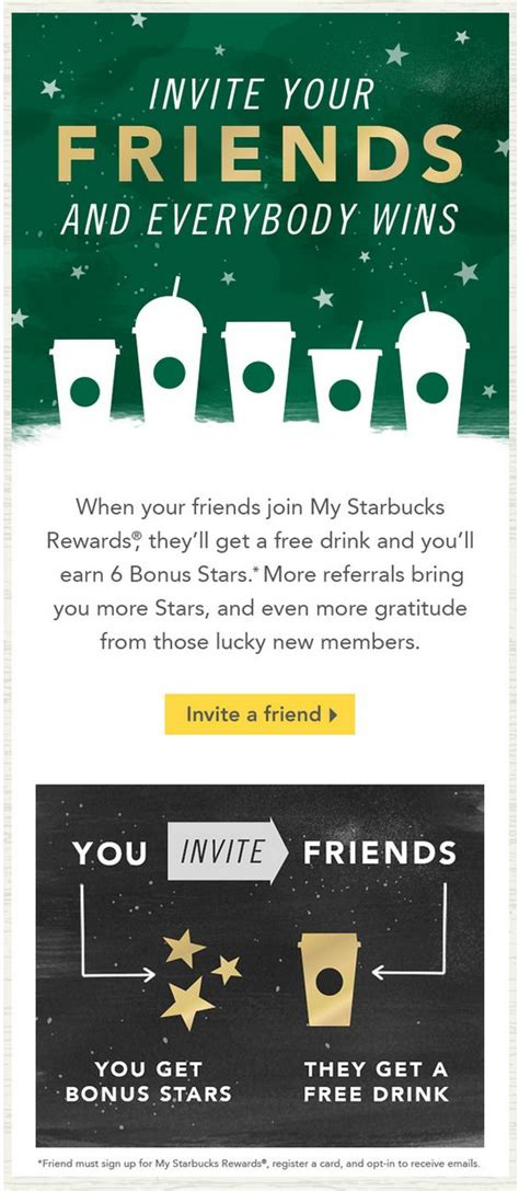 Refer A Friend Email Template by Starbucks Friends And Starbucks Coffee On