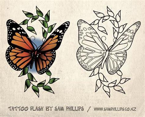 tattoo flash butterfly 5 monarch butterfly tattoo designs