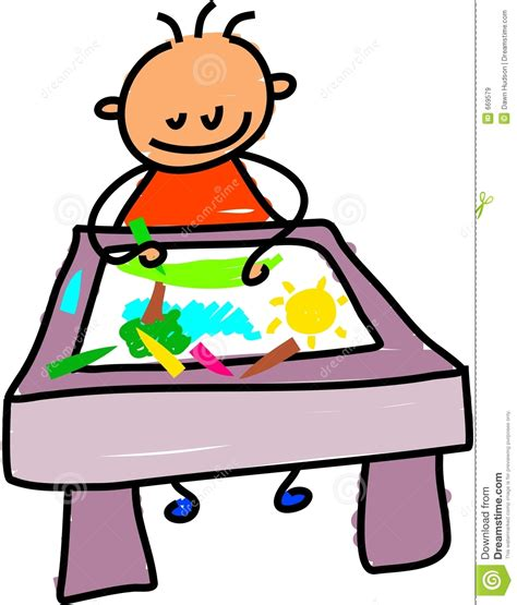 Drawing Kid Stock Illustration Image Of Artistic Lifestyle 669579 Kid Drawing Picture
