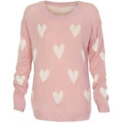 pink knit long sleeve sweater with all from ustrendy