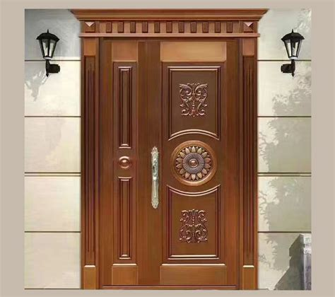 Sus304 residential safety entry stainless steel door design best price luxury house front double