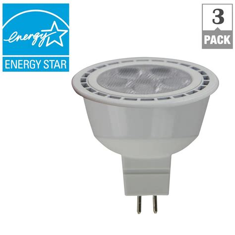 Lu Led Axiom 12 Watt ecosmart 50w equivalent bright white 12 volt mr16 dimmable cec led light bulb 3 pack