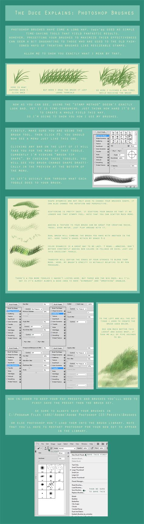 tutorial how to load new brushes in adobe photoshop photoshop brushes tutorial by duces wild on deviantart